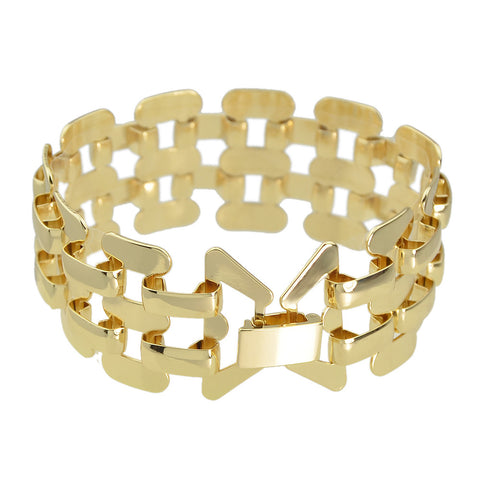 Gold Alloy Hollow Bracelet