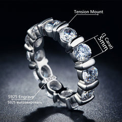 .925 Sterling Silver Bague Fashion Ring