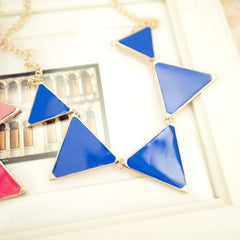 Triangle Design Pendant Necklace - 4 Color Options