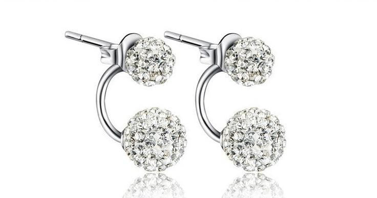 Silver Plated Cubic Zirconia Stud Earrings