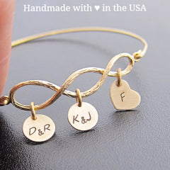 Personalized Grandma 3 Generation Bracelet: Family Tree with 3-10+ Charms
