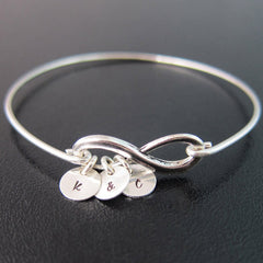 Personalized Infinity Bracelet with 1+ Charm
