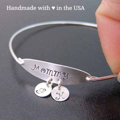 Personalized 'Mommy' Bracelet with 2+ Initial Charms
