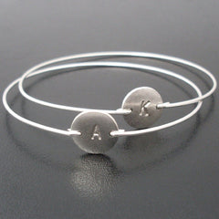 Personalized Silver or Gold Initial Bracelet