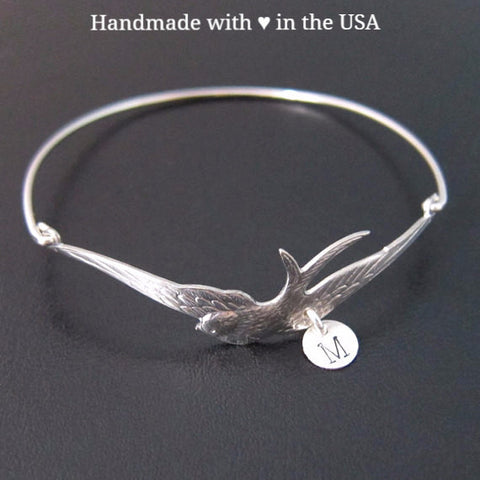 Personalized 'Under Mother's Wing' Bracelet with 1+ Initial Charm