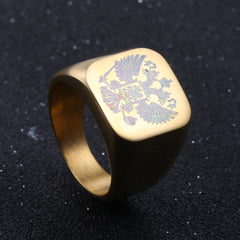 'Coat Of Arms' Russian Signet Ring - 3 Color Options