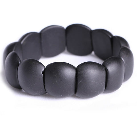 Natural Bian Black Stone Bracelet