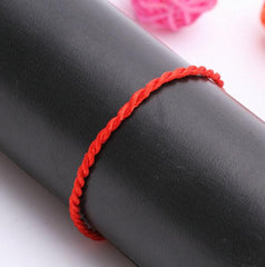 Simple Chinese Braided Red String Rope Bracelet