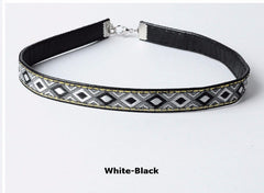 Stylish Leather Boho Choker Necklace