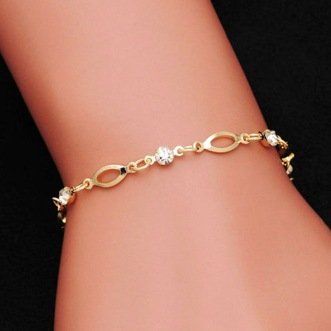 18k Gold Plated Crystal Bracelet
