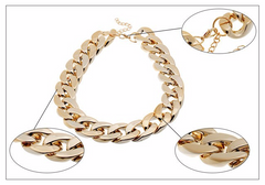 18K Gold or Silver Plated Chain Necklace - 3 Color Options
