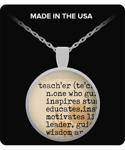 Teacher Definition Pendant