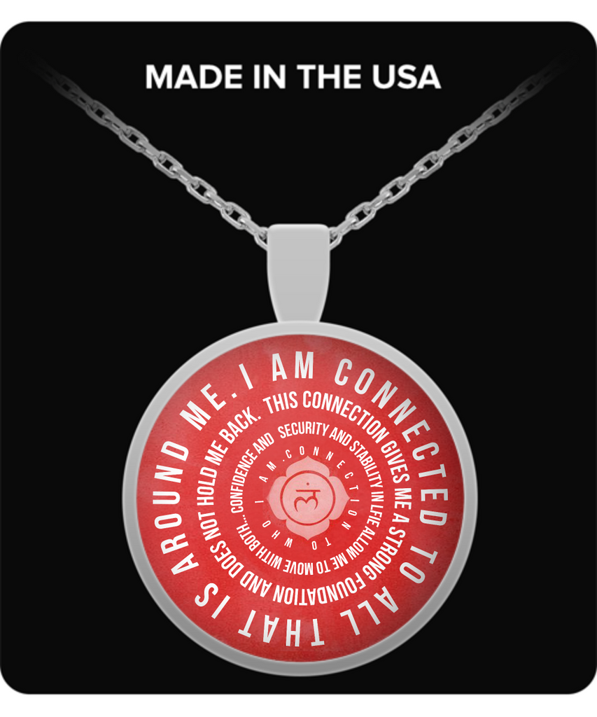 "I Am Mantra Pendant - ""I Am Connected To All That Is Around Me..."""