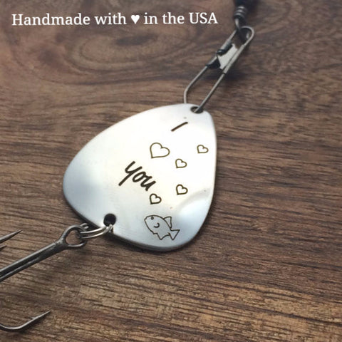 Personalized 'I Love You' Fishing Lure