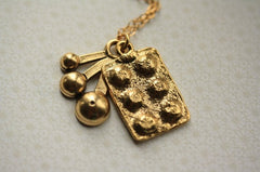 Long Bakers Cupcake Necklace (14kt Gold Filled Chain)
