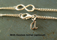 Sterling Silver Bow Bracelet - 'Tie the Knot' Jewelry (Custom Options Avail)