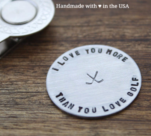 Personalized 'I Love You' Golf Ball Marker