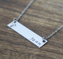 Personalized Nurse Bar Necklace w/ Custom Name - Nurse RN Gift