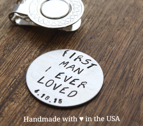 Personalized Golf Ball Marker - Father of Bride Gift w/ Custom Date