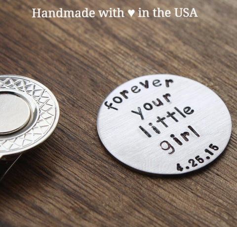 Personalized Golf Ball Marker - Father Wedding Gift w/ Custom Date
