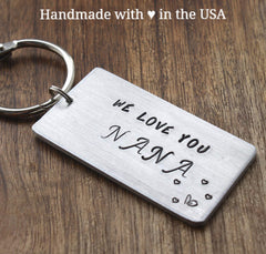 Personalized Nana/Grandma Keychain: Custom Initials, Date, Monogram (We Love You Nana)