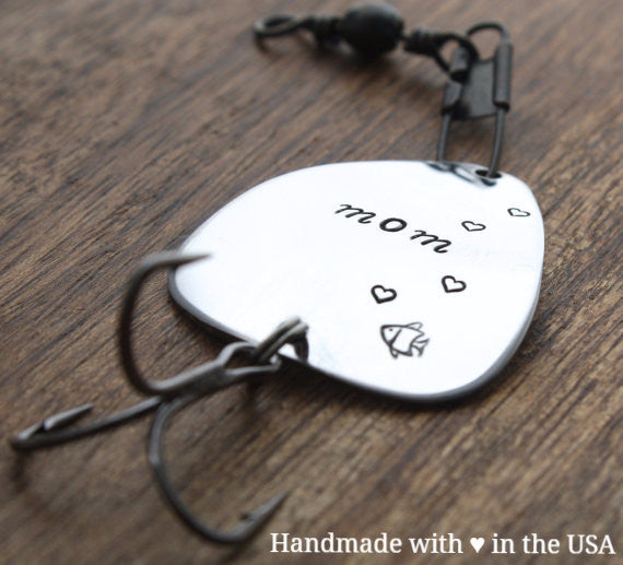 Personalized Mom Fishing Lure: Custom Date, Message, Name (Mother's Gift)