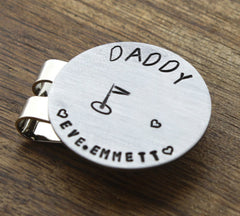 Personalized 'Daddy' Golf Ball Marker with Custom Names