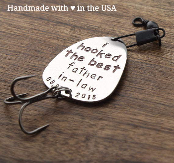 Personalized Fishing Lure for Father-in-Law w/ Custom Date