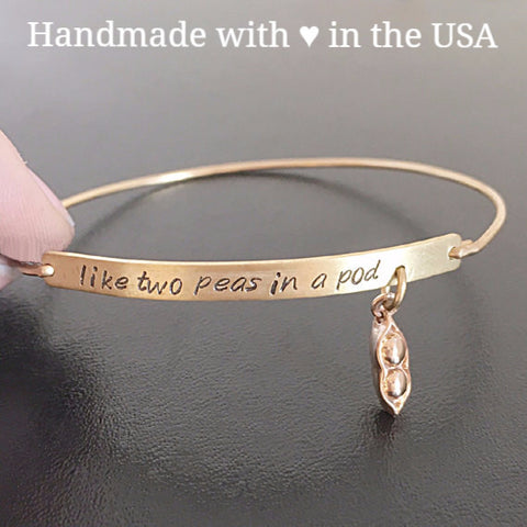 Personalized 'Two Peas In a Pod' Bracelet