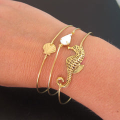 Seahorse Beach Jewelry Set (Brass or 14K Gold Filled)
