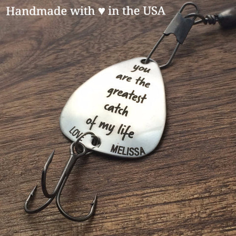 Personalized Fishing Lure - Husband Gift with Custom Name