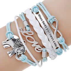 Multi-Layer Leather Charm Bracelet - 16 Color/Style Options