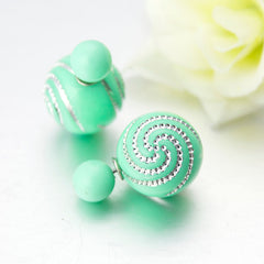 Double Pearl Stud  Earrings - 10 Color Options