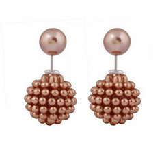 Double Pearl Stud Earrings - 6 Color Options