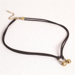 Black Elastic Choker Necklace With Pendant - 8 Style Options