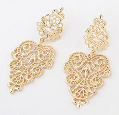 Silver Or Gold Plated Bohemian Style Drop Earrings - 4 Color Options