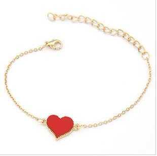 Heart Chain Bracelet - 3 Color Options