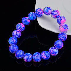 Handmade Glass Bead Charms Bracelet