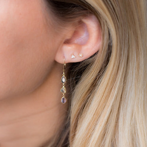 Fancy Trillion Diamond Earrings