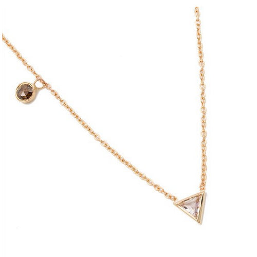 18K Gold Floating Diamond Necklace