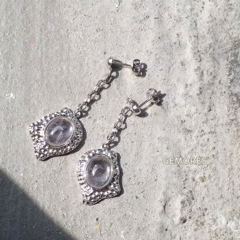 En Saison aria pink amethyst earrings