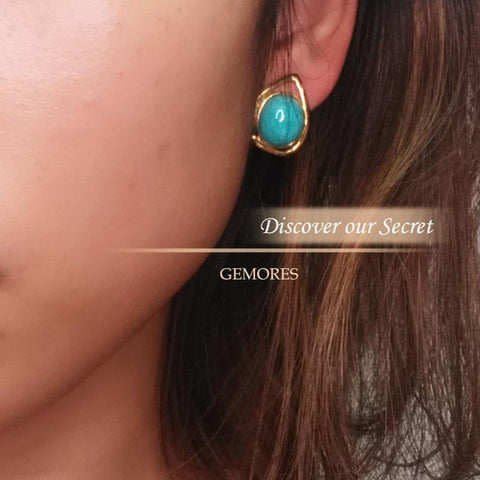 Peru amazonite aria saison stud earrings