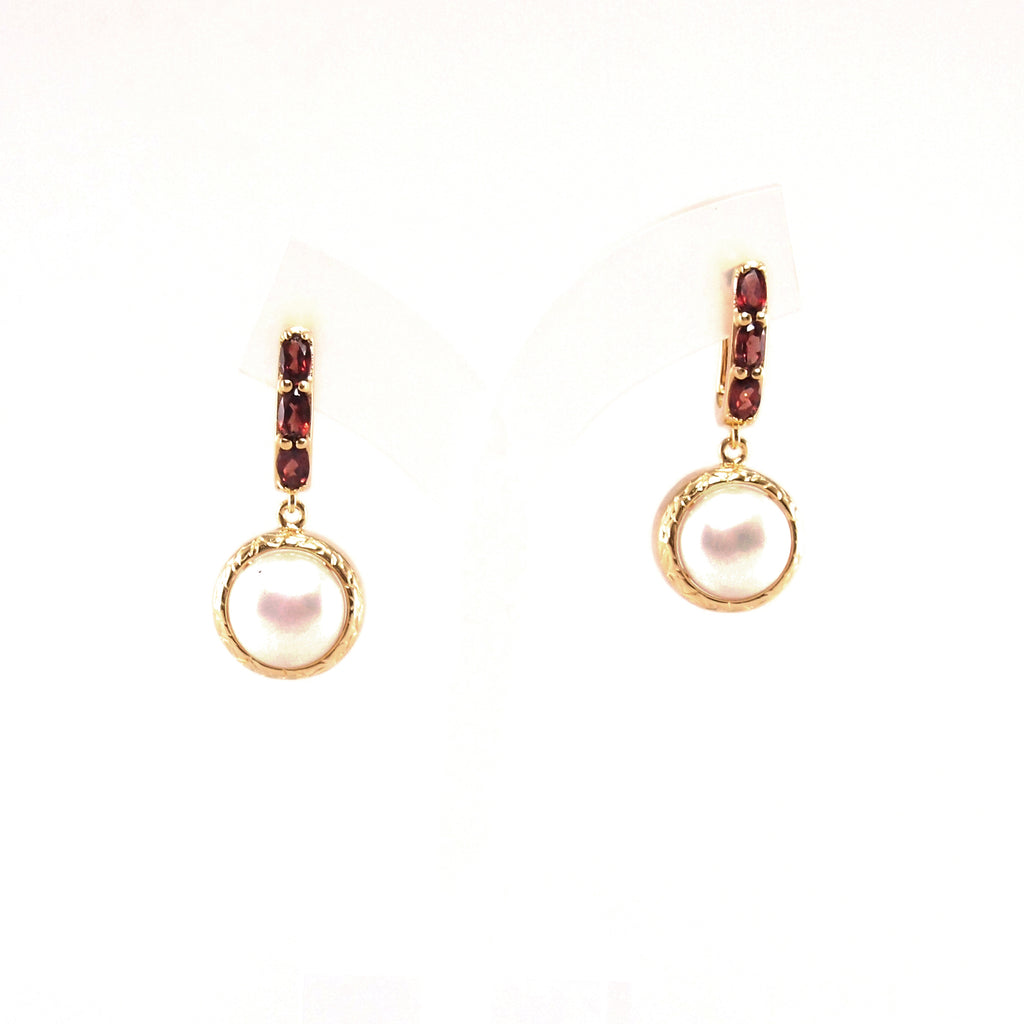545d0147a Vintage Imperial Garnet Pearl Earrings – Gemores