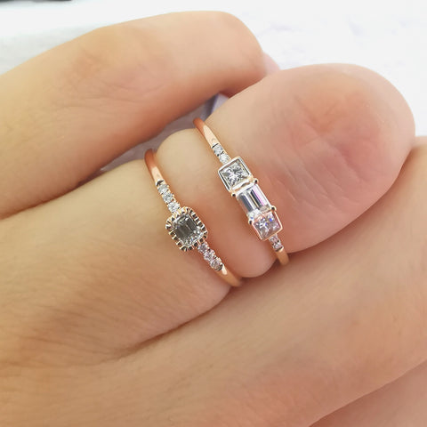 Aries Baguette Diamond Band Ring