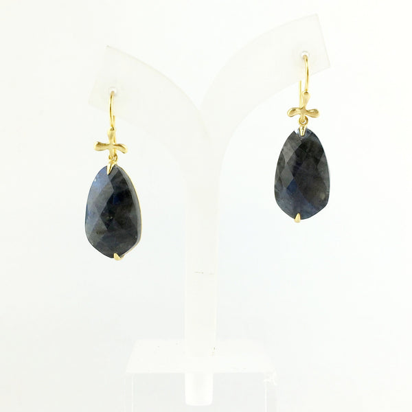 En Saison labradorite 18K gold Earrings