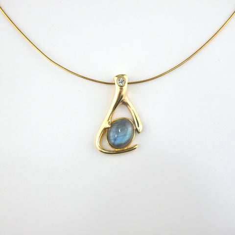 Le Emmalyn rainbow labradorite necklace
