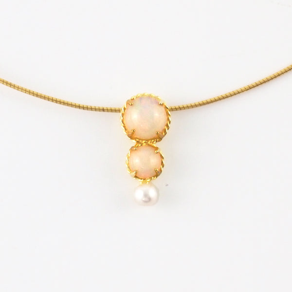 Astrid collection fired opal necklace in gold