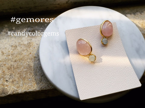 Candy beryl gems earrings in 18K gold