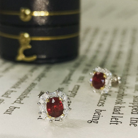 Vintage Imperial Ruby Earrings