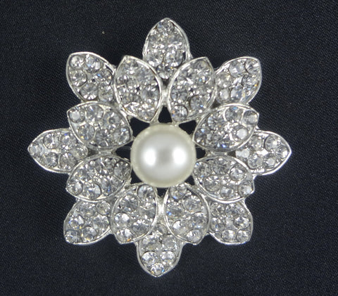 Wedding Pearl Brooch - FB0059 - Fancy Brooches